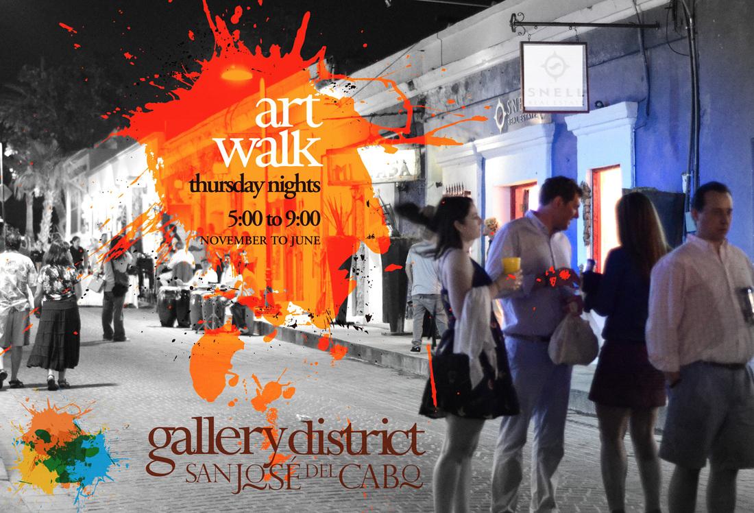 San Jose Cabo Mexico Map.Art Walk Gallery District San Jose Del Cabo